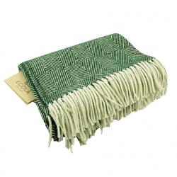 Blanket, sheep wool, green