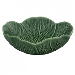 Bowl, cabbage leaves shape