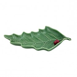 SMALL LEAF SHAPED PLATE, HOLLY