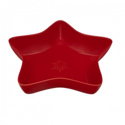 STAR BOWL - 35 CM, RED
