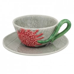 TEA CUP AND SAUCER, ETLINGERA
