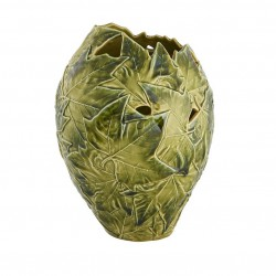 Vase, platanum leaves