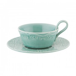 CUP WITH SAUCER, MORNING BLUE