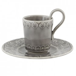 CUP WITH SAUCER, ANTHRACITE