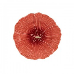 DESSERT PLATE - HOLLYHOCK, RED