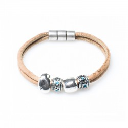 BRACELET WITH SILVER AND...