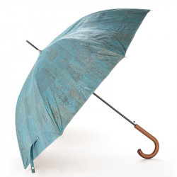 CORK UMBRELLA, LIGHT BLUE