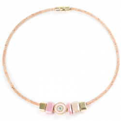 NECKLACE W/ PINK LUCKY EYE...