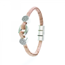 BRACELET WITH A RING (BEIGE)