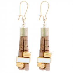 """PASSION"" EARRINGS (BEIGE)"