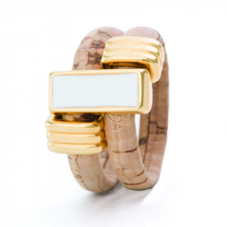 """PASSION"" WHITE RING (BEIGE)"