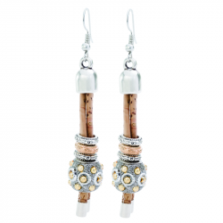 EARRINGS WITH SILVER/GOLDEN...