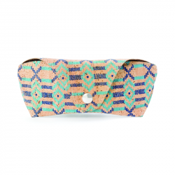 GLASSES CASE (ETHNIC BLUE)