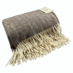 WOOL BLANKET, BROWN