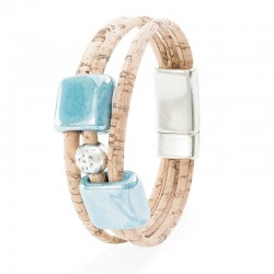 BRACELET WITH BLUE CERAMICS...