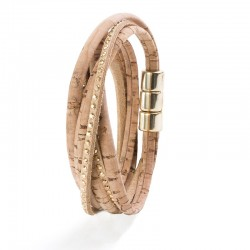2 TURNS BRACELET WITH SUEDE...