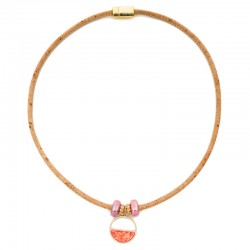 NECKLACE W/ RING SALMON AND...