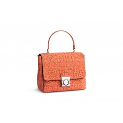SHOULDER BAG - CROCO CORAL