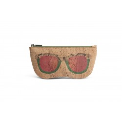 GLASSES CASE (BEIGE + GREEN)