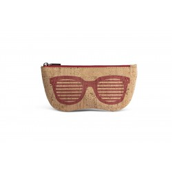 GLASSES CASE (BEIGE + RED)
