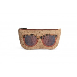 GLASSES CASE (BEIGE + ORANGE)