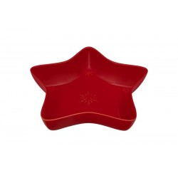 STAR BOWL - 45 CM, RED