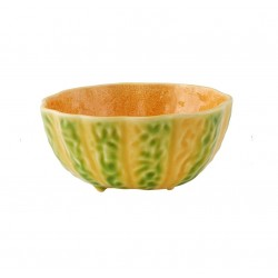 BOWL 16 CM, GREEN AND ORANGE
