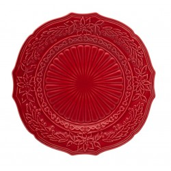 CHARGER PLATE - 32 CM, RED