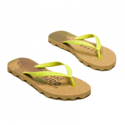 "FLIP FLOPS ""EYES"" YELLOW THONG"