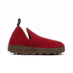 SLIP-ON SNEAKERS CITY - RED