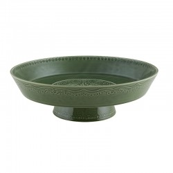 FOOTED FRUIT BOWL 35 GREEN...