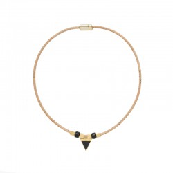 NECKLACE WITH BLACK...