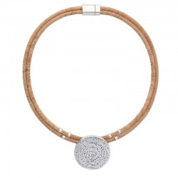 NECKLACE WITH SILVER DISC...