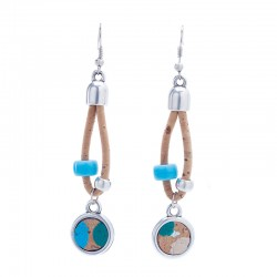EARRINGS WITH SILVER...