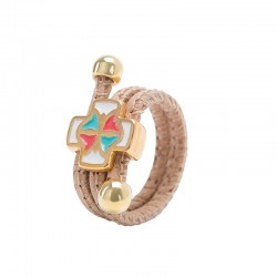 RING WITH CROSS DOWEL