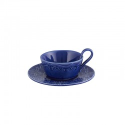 TEA CUP WITH SAUCER, INDIGO...