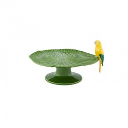 TRAY ON FOOT - 34 CM, GREEN...