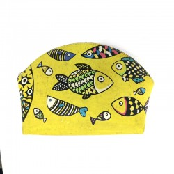 COIN HOLDER - YELLOW WITH FISH