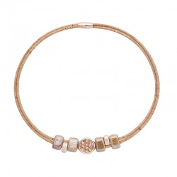 NECKLACE WITH DOWEL PINK...