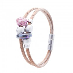 BRACELET WITH GREY AND PINK...