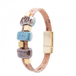 BRACELET WITH SQUARE AND...
