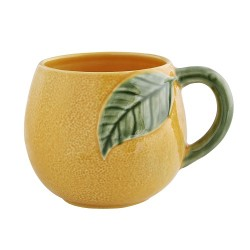 Orange-shaped mug, ceramics