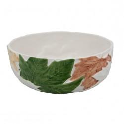 Salad bowl, platan leaves