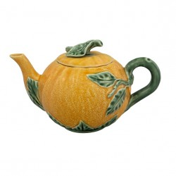 Orange-shaped ceramic tea pot