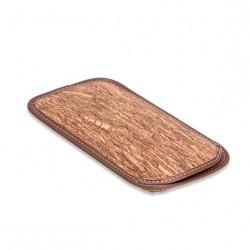 Cork glasses case (gold brown)
