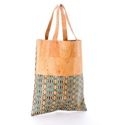 SHOPPING BAG BLUE/BEIGE