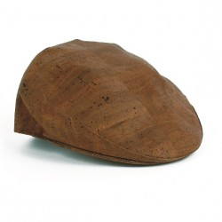 CORK FLAT CAP, DARK BROWN