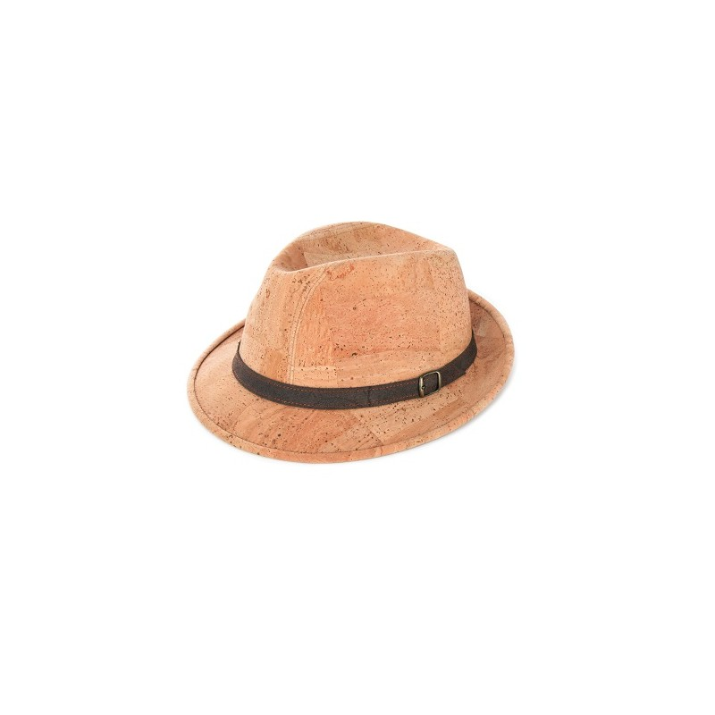 Elegant cork hat in casual style. The relatively narrow oval brim in front  is slightly bended downward and upwards on the back 1e91096c73